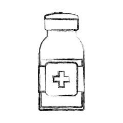 isolated medicine liquid bottle