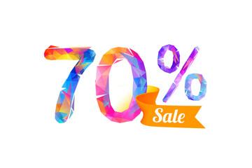 70 (seventy) percents sale