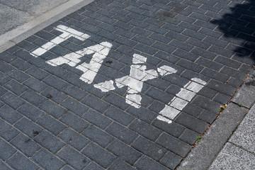 Pflastertein Parkplatz Taxi