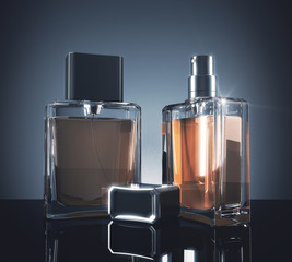 Light perfume bottles