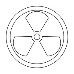 Sign radioactive  the black color icon .