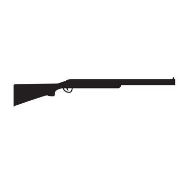 Silhouette of Shotgun, hunting rifle