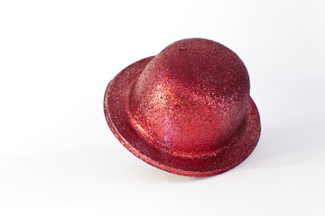 Red party hat isolated on the white background,