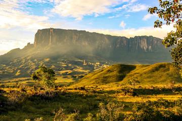 View towards Kukenan en route to Mount Roraima, Venezuela