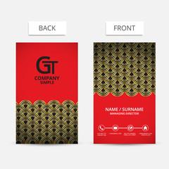 Business card modern design.VECTOR.