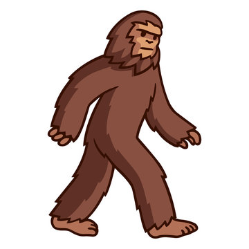 Walking Bigfoot drawing