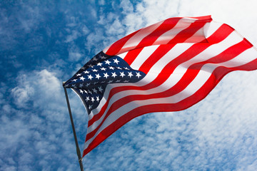 USA flag background, 4th of July Independence Day symbol