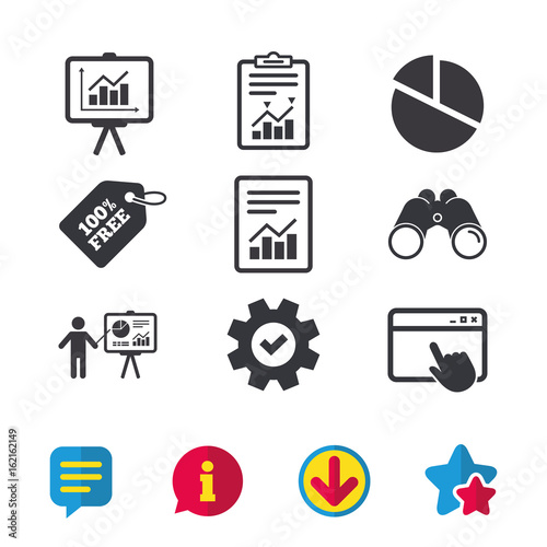 File Document With Diagram Pie Chart Icon Presentation Billboard