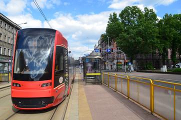 Tramwaj w Katowicach/Tram in Katowice, Silesia, Poland