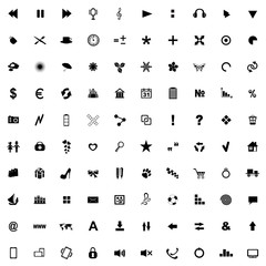 Set of icons for use in Internet