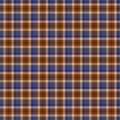 Blue and brown seamless tartan style pattern