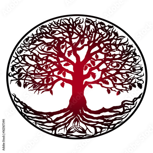 sketch of tattoo tree of life red gradient tree with roots stock rh fotolia com tree life vectoriel tree of life vector file