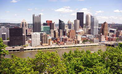 Pittsburgh Pennsylvania Downtown City Skyline