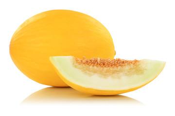 Honigmelone Früchte Frucht tropisch Obst Sommer Freisteller freigestellt isoliert
