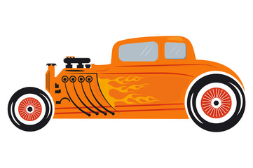 Hot rod. retro cars