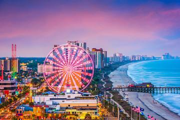 Fototapete - Myrtle Beach, South Carolina, USA Skyline
