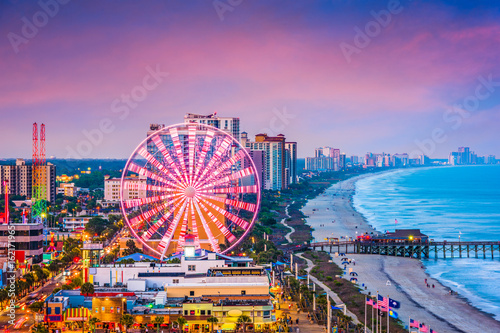 Fototapete Myrtle Beach, South Carolina, USA Skyline