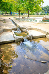 Traditional water filter system at Donggung Palace  in Gyeongju, S.Korea - Tour Destination