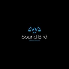 Creative minimalistic sound wave bird logo