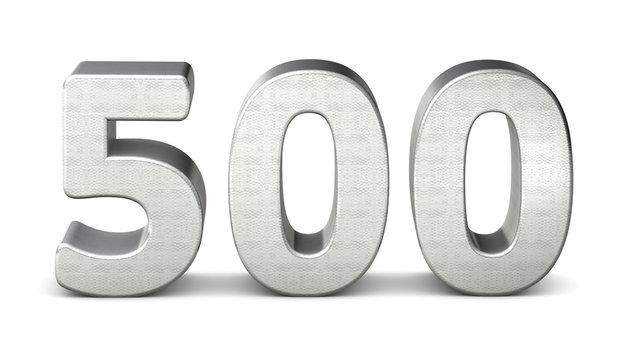 500 zahl silber 3d number silver struktur