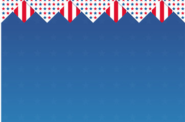 independence day ribbon with usa flag color, use for greeting card, banner and poster