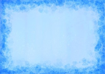 Tło akwarelowe A4 - niebieskie