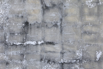 old white decay concrete crack wall and copy space for add text