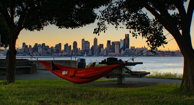 Hammock on Alki Beach