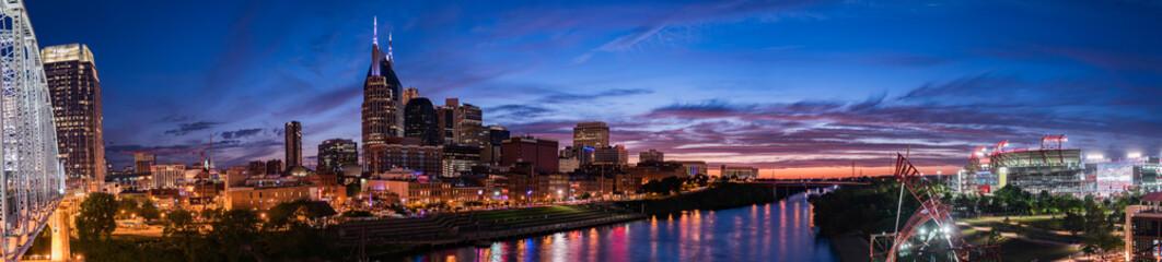 Nashville Skyline with Nissan Stadium