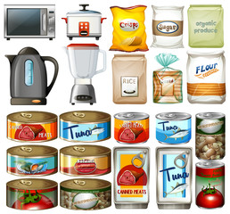 Canned food and electronic kitchen devices