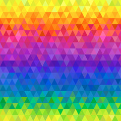 Abstract geometric rainbow seamless pattern background.