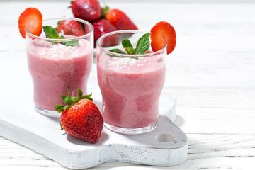 refreshing strawberry milkshake