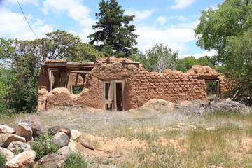 Adobe walls left