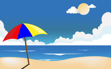 Summer sea beach background