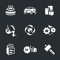Vector Set of Scrap processing Icons.