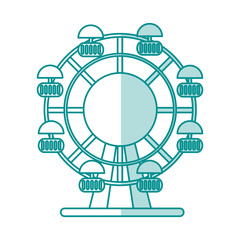 fair wheel vector illustration