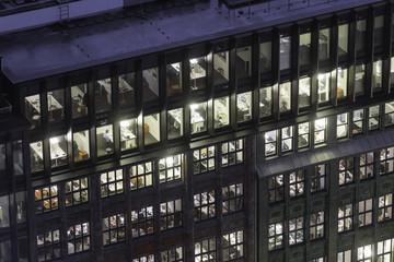 beleuchtete Büros