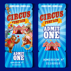circus ticket admit one