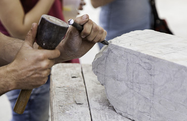 Carving stone