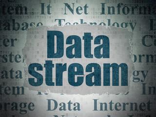 Data concept: Data Stream on Digital Data Paper background