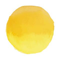Bright light yellow vector watercolor banner blot