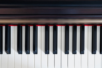 Piano keys top view