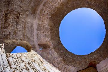 Famous Vestibul in Split, Croatia