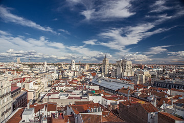 Panorama of Madrid and its historic buildings