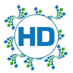 HD Green Blue Abstract Squares Circular