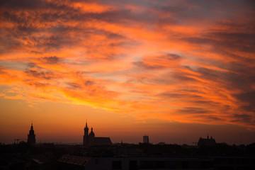 Wchód słońca nad Krakowem / Krakow sunset, Poland