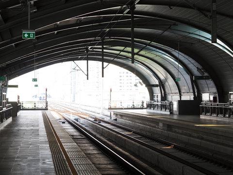 Sky train station