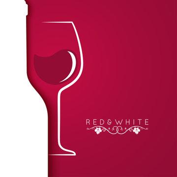 wine glass logo menu design background