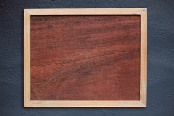 wooden frame on a wall.
