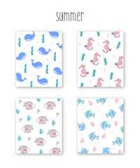 Summer pattern illustration